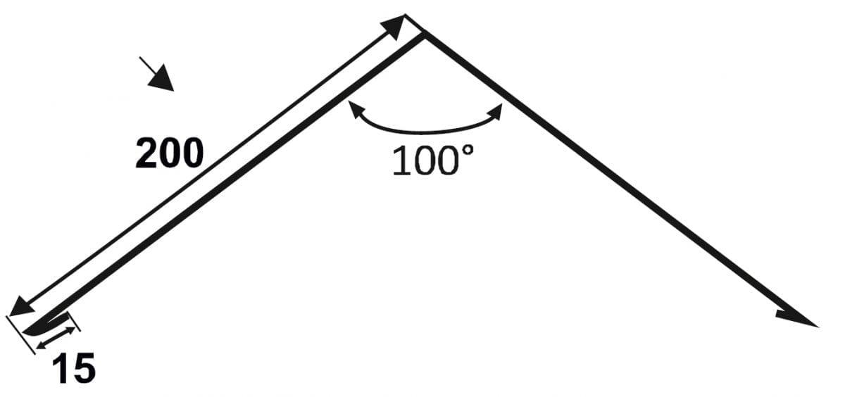 Einfacher First - Flachfirst 200-200-Technische-Zeichnung