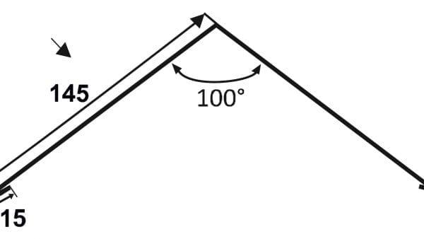 Einfacher First - Flachfirst Technische-Zeichnung