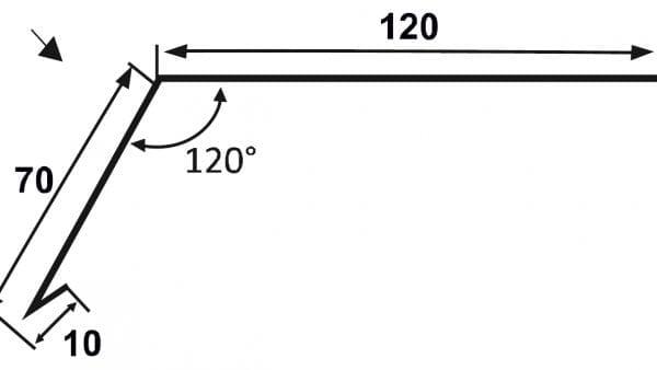 Oberes-Traufblech---Traufkappe-Technische-Zeichnung
