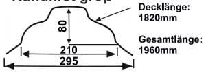 Omega – Rundfirst groß | 80 mm Höhe | mit Wasserfalz