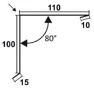 Pultdachfirst | 110x100mm | 80°