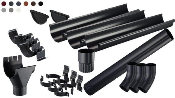 Rinnenkomplettset Pure Stahl Bausatz Dachrinne Stecksystem