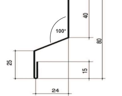 Tropfleiste groß | 100° | mit Wasserfalz | versch. Farben