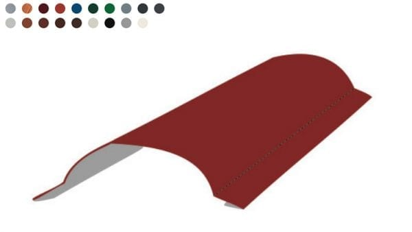 Tonnenfirst-Rundfirst klein -Farben