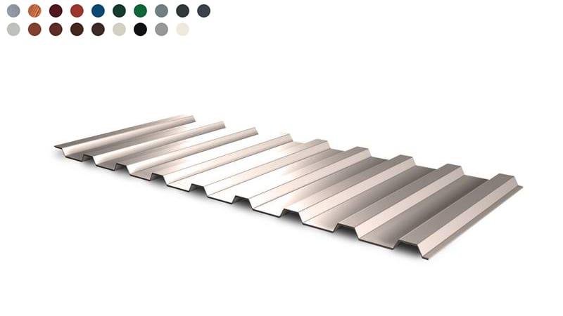 St/ärke 0,50 mm Dachblech Material Stahl Beschichtung 35 /µm Wellblech Profilblech Farbe Ziegelrot Profil PS18//1064CR
