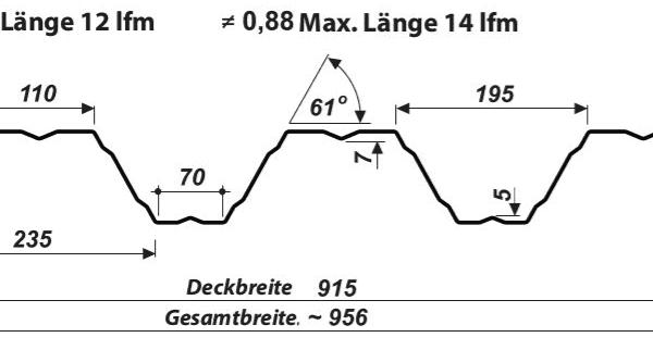 Konstruktionsprofil Dach 92-305 – T92P - Technische Zeichnung