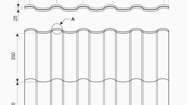 Modus Estetika Technische Zeichnung