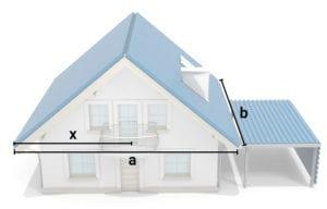 Trapezblecheversand Trapezblechhaus Berechnung Dachrinnengröße Dachgrundfläche