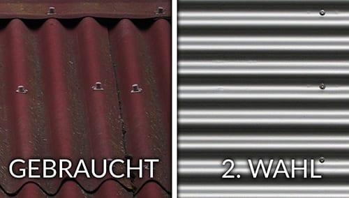 Trapezbleche Gebraucht Gegen 2.wahl Qualitätsunterschiede