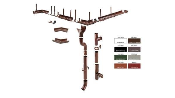 Dachrinne Polyurethan-Stahl Stecksystem