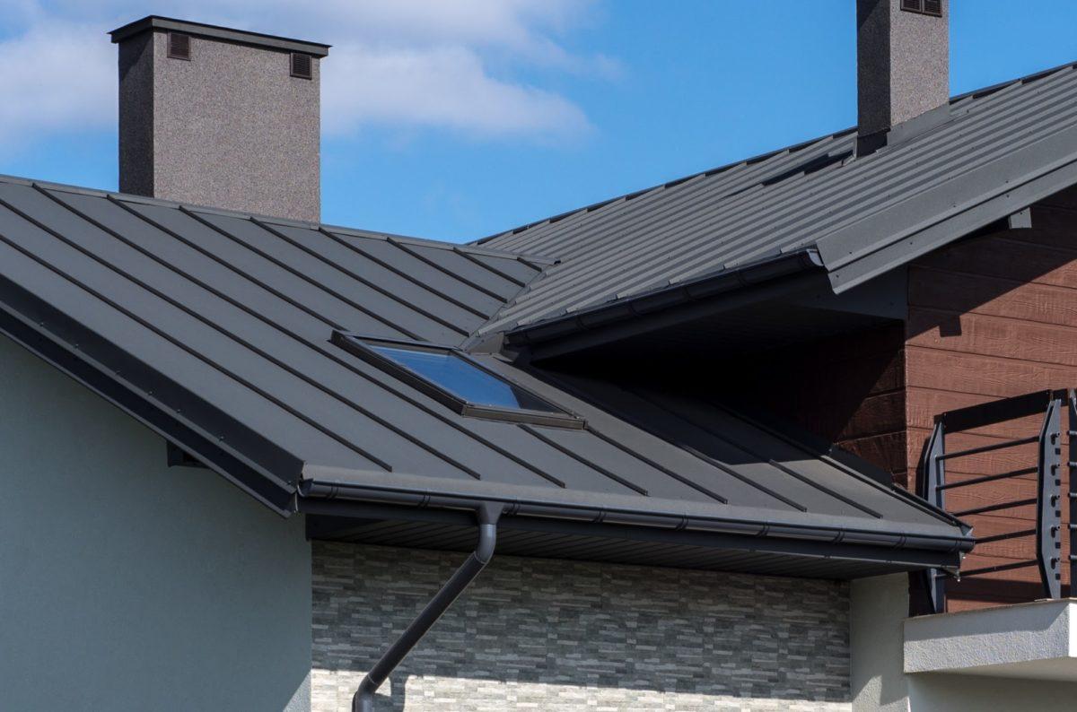stehfalzblech dach mit rinne